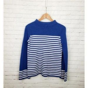 Boden 100% Wool Striped Sweater Blue & White